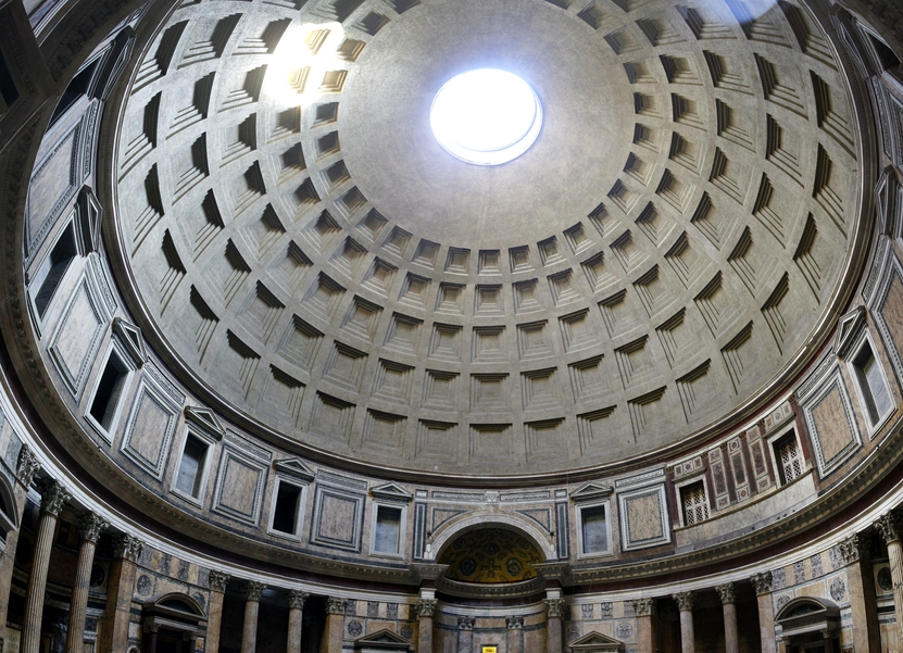 Pantheon dome on Rome, Italy