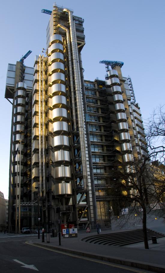 von der anderen Perspektive fotografiert Lloyd's Building
