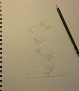 Einige können es noch: Handskizze Architekturstudent 3. Semester