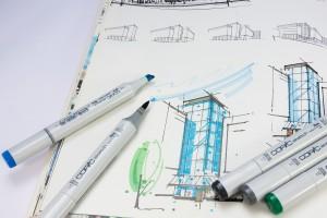 CAD-Zeichnung per Hand bearbeitet | pixabay © stux