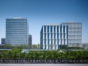 Ansicht der 3Cubes | © gmp Architekten