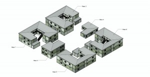 Plan des Übergangswohnheimes in Bremen © Algeco