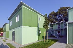 Ansicht der Modulbauten in Bremen © Algeco