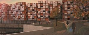 Studentischer Entwurf Modulares Wohnen| CC | © Anna Seum und Elisabeth Haentjes