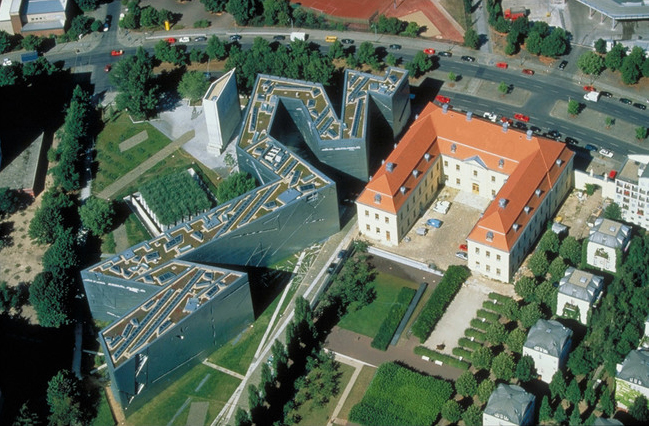 Das Jüdische Museum aus der Luftperspektive (Foto Guenter Schneider, Creative Commons 3.0)