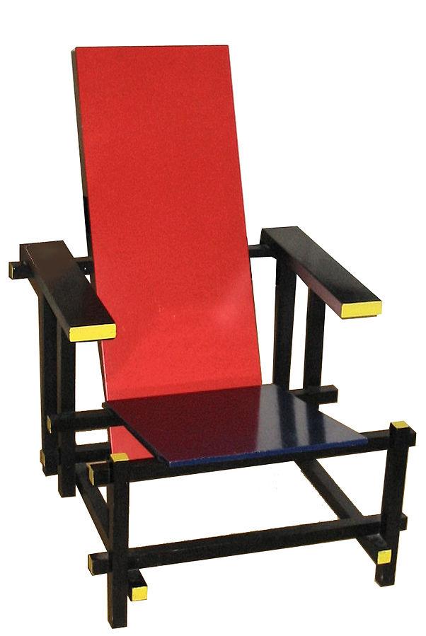 Der rot-blaue Stuhl von Gerrit Rietveld (Foto: Ellywa, CC)