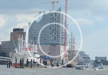 Bild #00013, Hamburg, Hafenbild mit Elbphilharmonie, Foto Preikschat