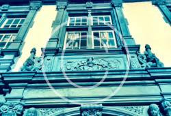Bild #00048, Schloss Klink, s/w, Detail Fassade, Foto ArchitektenScout